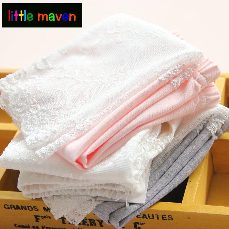2020 Baby Girl Lace Stitching Knee Length Leggings Cotton Good Quality Preschool Children Girls Kids Leggings