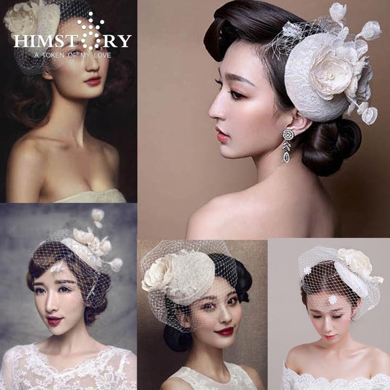 European Vintage  Designs  Bridal  Veil Wedding Party Headdress Fascinator Flower veil Wedding Accessories Bridal Hair Ornament