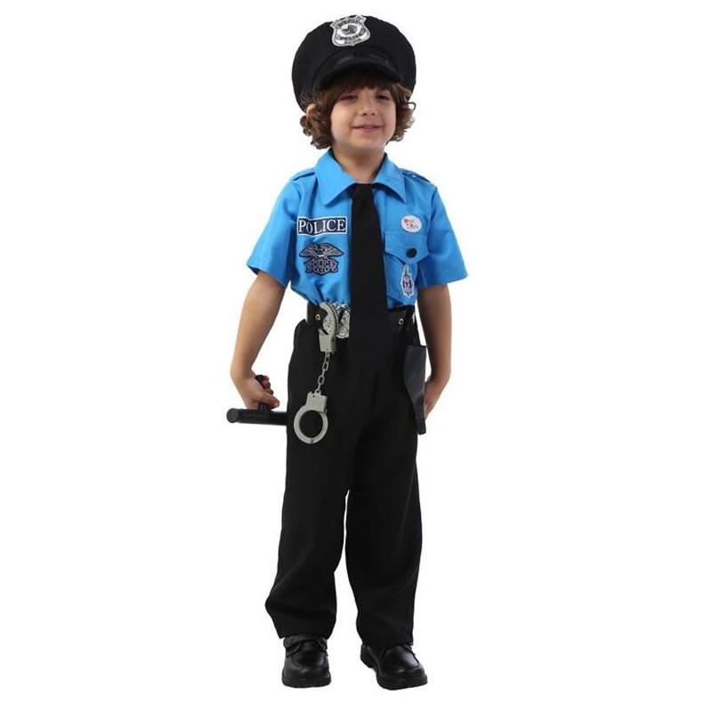 Çocuklar Cadılar Bayramı Polis Kostümleri çocuk Günü Erkek - Kostümler - Fotoğraf 3