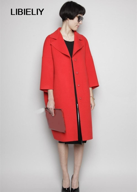 a215d1b64 Manteau Femme Moda Agradável Novo Mulheres Outono/Inverno Simples Maxi  Longo Casaco de Caxemira Feminino