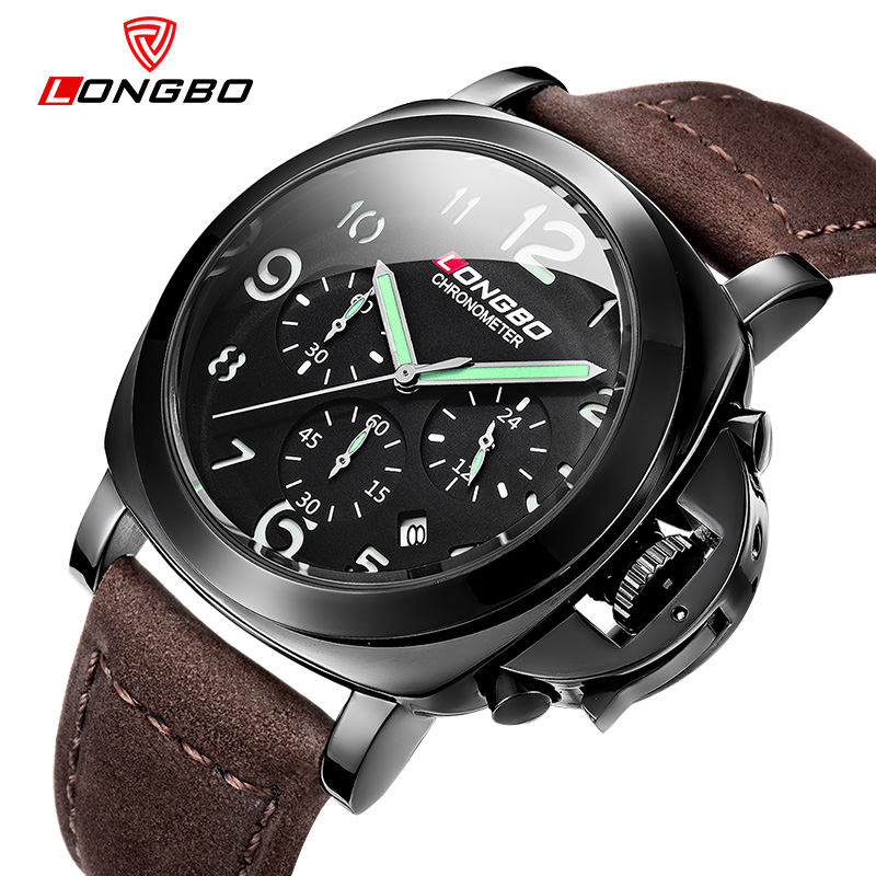 e5a887598c4 reloj mujer LONGBO Luxury Men Watches Top Brand Casual Sport Quartz Watch  Army Military Waterproof Wristwatch Relogio Masculino-in Quartz Watches  from ...