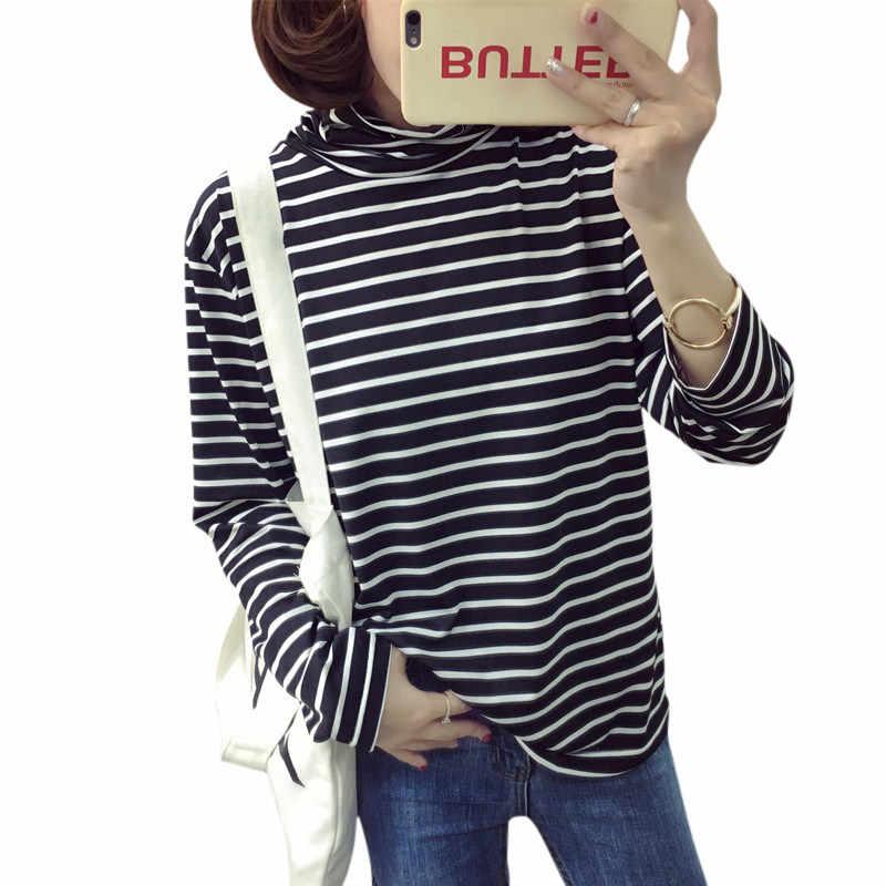 4c4f127042306c ... Women Korean Turtle Neck Long Sleeve T Shirts High Neck Top Base Shirt  Solid Color/ ...