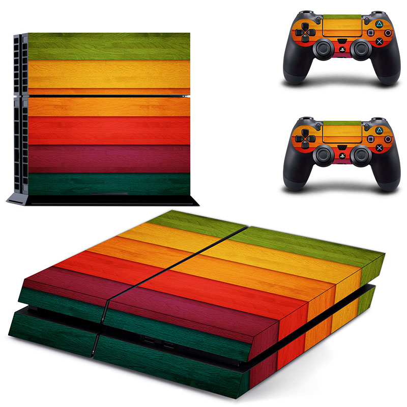 Classic PS4 Sticker Green Camouflage Vinyl Cover Decal PS4 Skin Sticker for Sony Play Station 4 Console and 2 Controller Skin in Stickers from Consumer Electronics