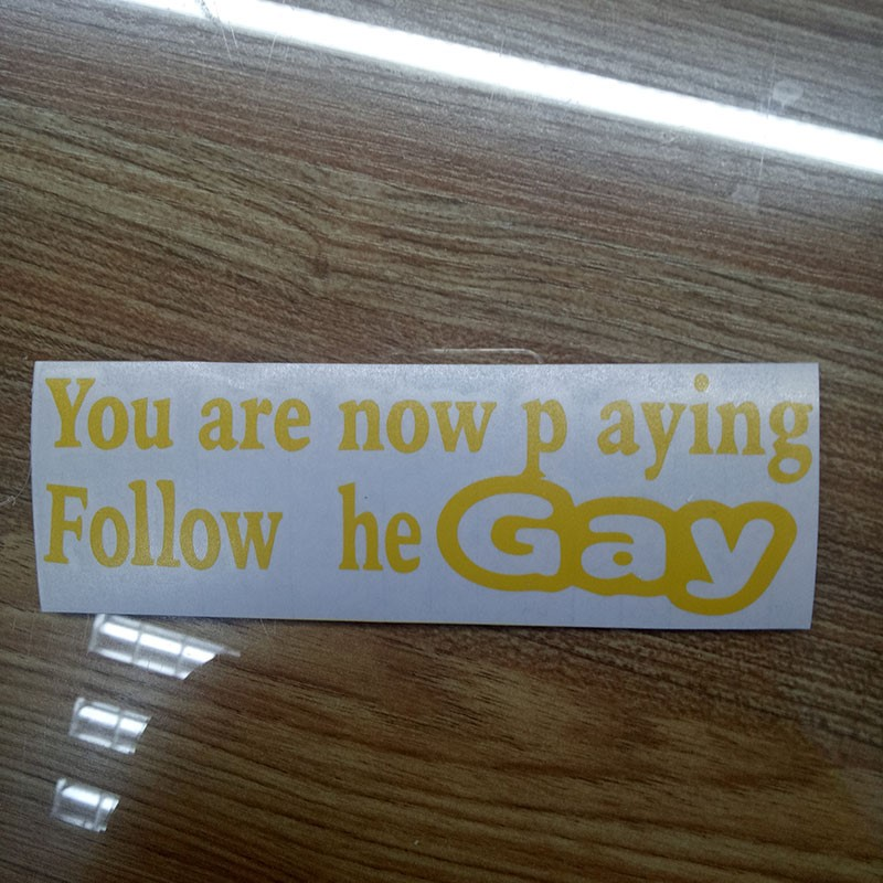 YOU 39 RE NOW PLAYING GAY BUMPER STICKER FUNNY CAR PAINTWORK STICKER DECAL in Car Stickers from Automobiles amp Motorcycles
