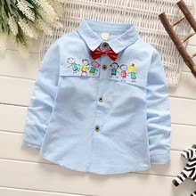Autumn Casual Character Shirts For Boys Fashion Cotton Regular School Blouses Full Sleeve Shirt Blouses For School Girls ss025
