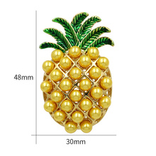 WEIMANJINGDIAN Brand Crystal Rhinestones and Enamel Pineapple Brooch Pins Fashion Women's Costume Jewelry Clothing Accessories