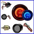 52mm 2 pulgadas EVO LCD Rojo/Azul Lente Humo Medidor de Presión de Aceite Con Sensor/AUTO CALIBRE