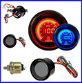 52mm 2inch EVO LCD Red/Blue Oil Pressure Gauge Smoke Lens With Sensor /AUTO GAUGE