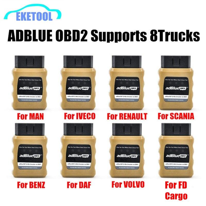 Emulador AdBlue NOX Emulation AdblueOBD2 Plug & Drive Ready Dispositivo de OBD2 Trucks Adblue OBD2 para Volvo/Iveco/SCANIA/MAN/DAF