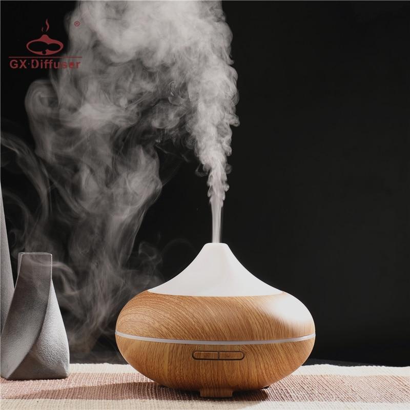 GX.Diffuser 7color LED 500ML Diffuser Ultrasonic Humidifier Essential Oil Aroma Diffuser Aromatherapy Diffuser For Office & Yoga