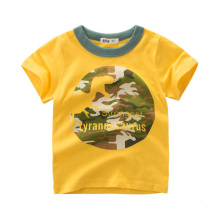 Cute Summer Dinosaur Printed Cotton Boy's T-Shirt