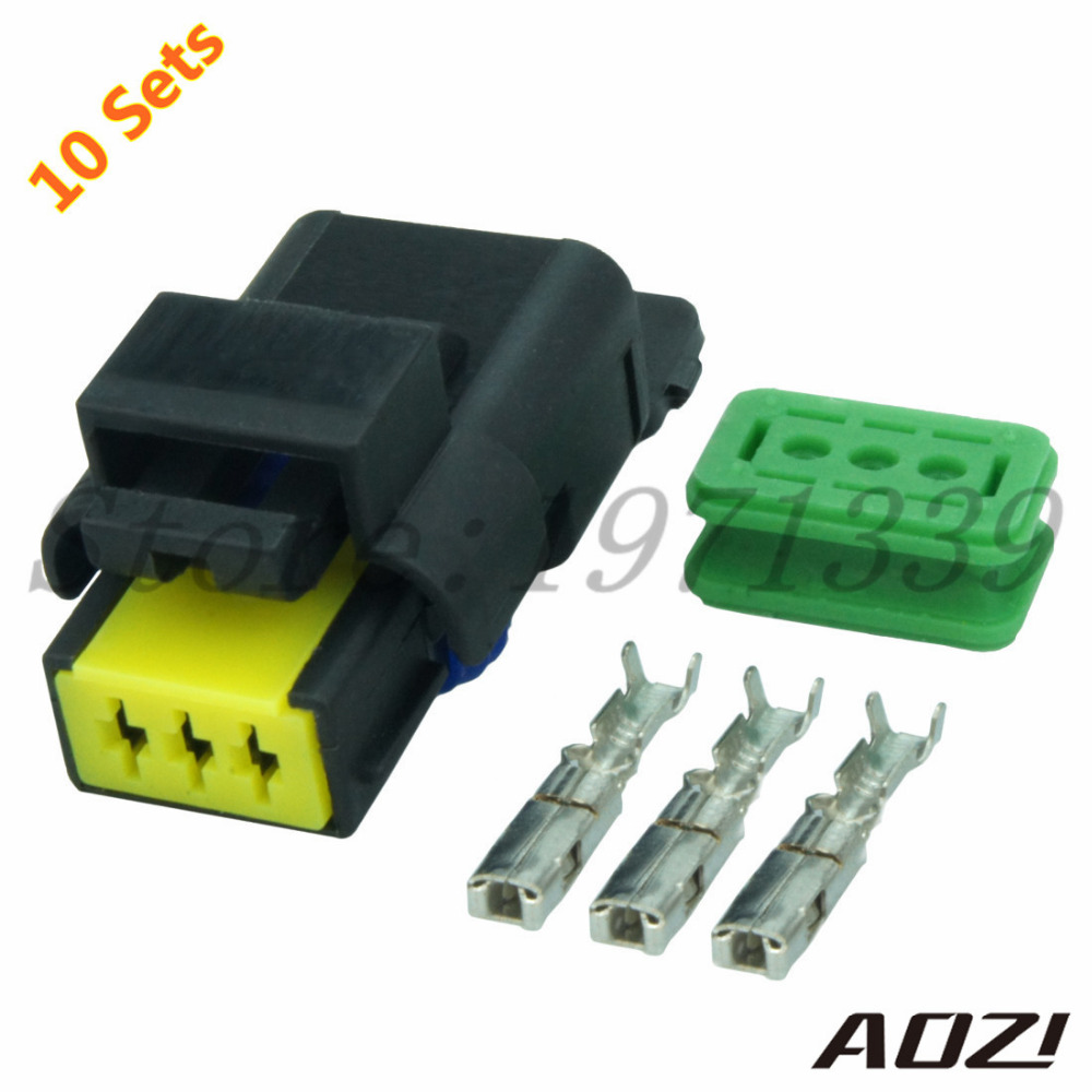 hight resolution of 10 sets number 211pc032s0049 auto wire harness connectors 3 pins female plastic connector and terminal