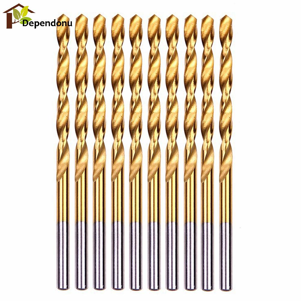50pcs/set Titanium Coated HSS Twist Drill Bit Set High Steel Power Tools 1/1.5/2.0/2.5/3mm for Woodworking Plastic Aluminum 15 pieces titanium coated hss twist drill bit set with 1 4 hex shank for metal power tool accessories 3 0 5 0mm