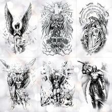 Wing Holy Angel Waterproof Temporary Tattoo Sticker Brave knight Warrior Flash Tattoos Body Art Arm Fake Tatoo mixed colour tattoo flash book a3 dragon warrior koi