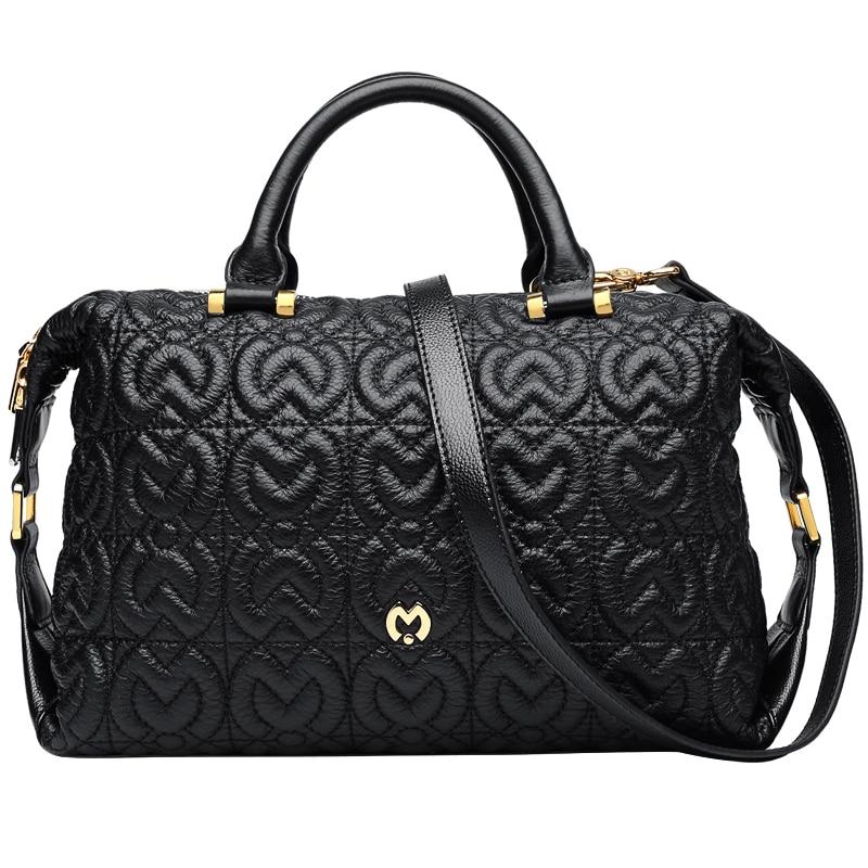 Hot&Quality Luxury Brand handbags women bags designer women shoulder bag elegant genuine leather bag hot Boston pillow #BC123 цена