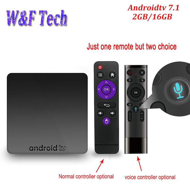 AX7 Smart Android TV BOX 2GB 16GB Amlogic S905W Quad AndroidTV 7.1 4K 2.4G WIFI HD Media Player Support Voice Control OptionalAX7 Smart Android TV BOX 2GB 16GB Amlogic S905W Quad AndroidTV 7.1 4K 2.4G WIFI HD Media Player Support Voice Control Optional