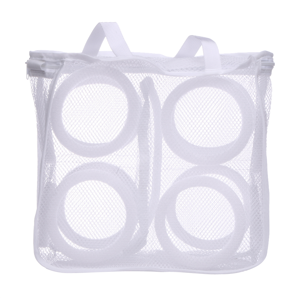 150ML Mesh Laundry Shoes Bags Three-dimensional Type Dry Shoe Organizer Portable Washing Square Vacuum Compressed Bag