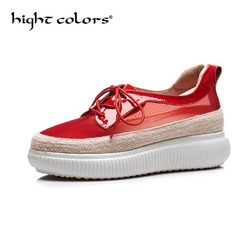 Summer Sneakers Fashion Shoes Woman Flats Casual Mesh Platform Shoes Designer Female Loafers Shoes for Women zapatillas mujer hizcinth 2018 brand women shoes patent leather flat platform female single women s shoes students flats loafers zapatillas mujer