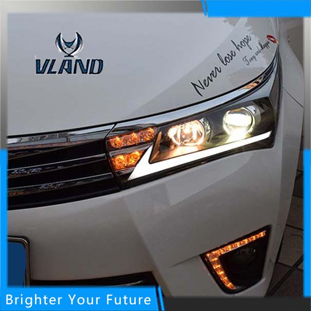 Headlights For Toyota Corolla 2014 2015 Head Lamps Assembly For Lexus Style