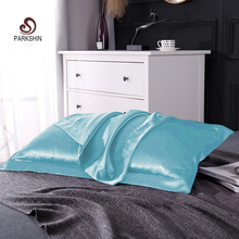 Liv-Esthete 100% Nature Mulberry Satin Silk Light Blue Pillowcase Wholesale Queen King 19 Color Silky Pillow Case For Women Men liv esthete luxury blue 100% nature mulberry satin silk luxury pillowcase wholesale 19 color silky bed pillow case for women men