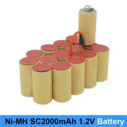 Ni MH Ni CD 1.2v battery 2000mah 10c 15c high power rechargeable nimh battery screwdriver and battery robot Ni-MH sc3000mah 1.2v