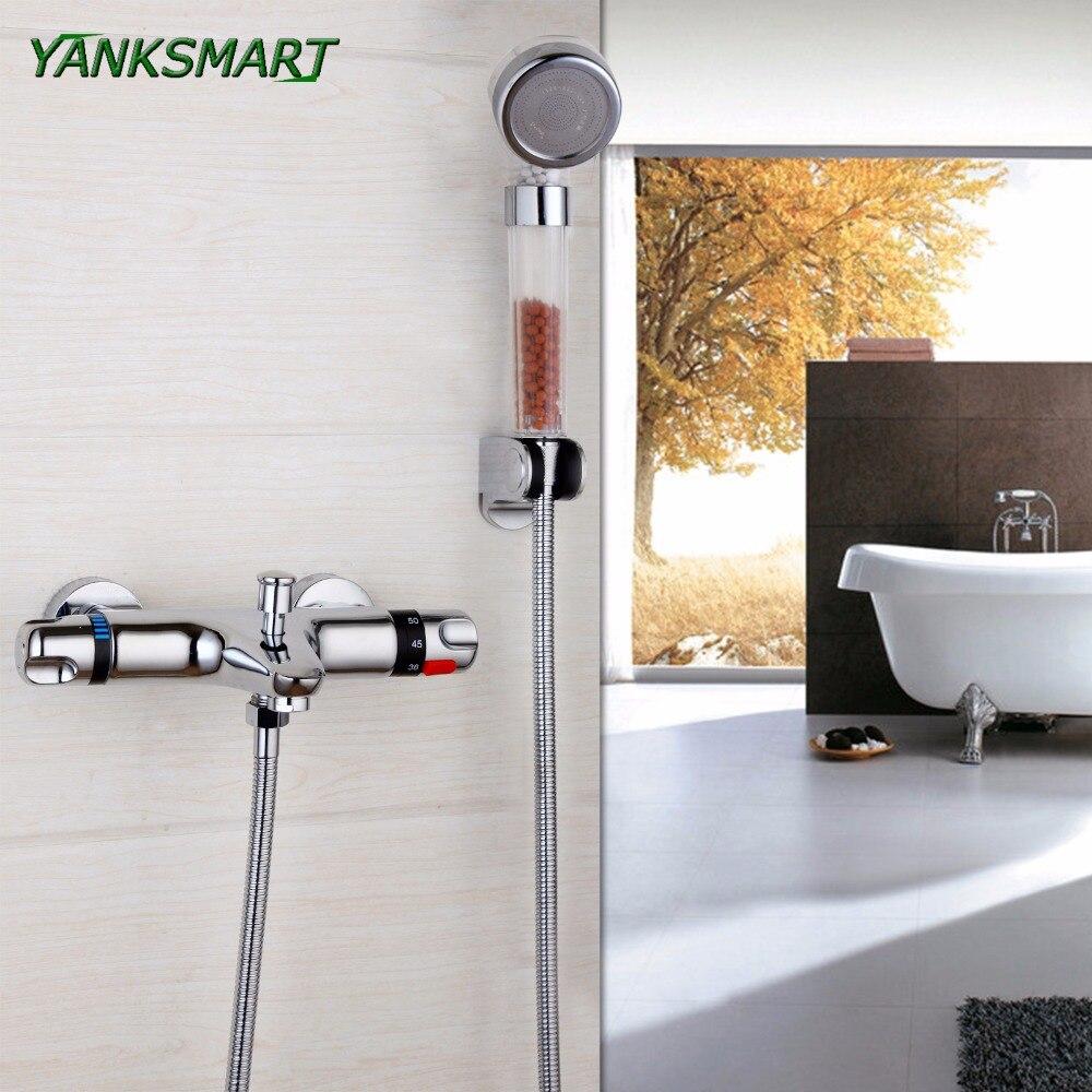 Yanksmart Thermostatic Filter Stone Temperature Shower