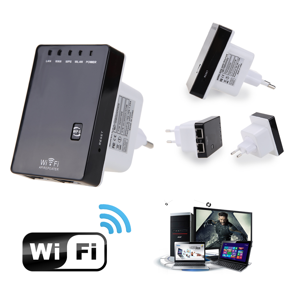 New Wireless-N Wifi Router 802.11n/b/g Network Repeater 300Mbps Range Expander Signal Extender Booster WIFI Ap WPS Adapter
