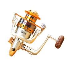 Spinning Fishing Reel 12 BB 500-9000 Full Metal Spinning Fishing Reel with Exchangeable Arm Rocker Fishing Spinning Reel JC