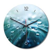 New Explosions Retro Acrylic Creative Wall Clock European Art Water Droplets Decorative