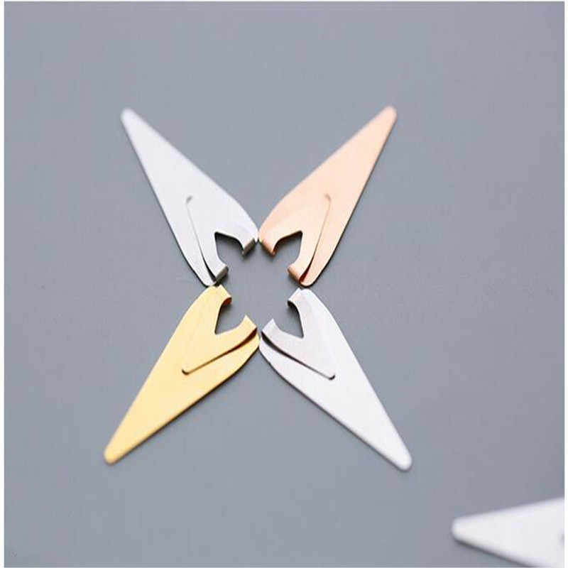 5 חתיכה מתכת מחוון סימנייה רטרו פשוט חלול מיני סימניות עבור ספר ספר קליפים מכתבים לילדים