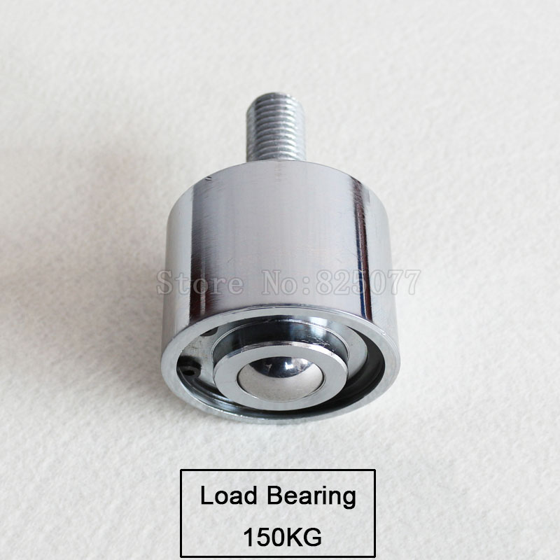 1PCS Heavy duty precision type universal ball/caster/wheel, load bear 150kg, use downward ball with bearing/M22 screw JF1512 500kg heavy load 4 inch casters 360 degree caster carrying wheel universal castor double bearing nylon trolley wheels