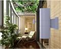 110 * 300 mm e 18 W levou ao ar livre quintal parede de luz 2 * 9 W IP65 Waterproof jardim pátio corredor parede lâmpada
