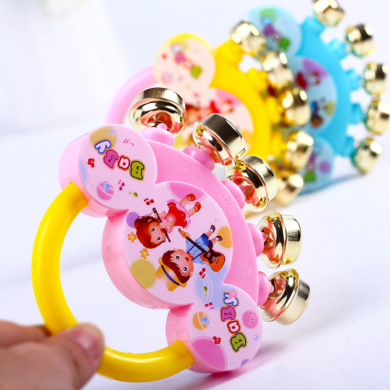 Kawaii Plastic Children's Rattle Educational Toys Funny Rainbow Colorful Hand Shake Bell Ring Toy For Baby Gift