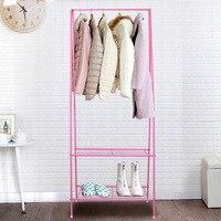 Iron Coat Hanger Floor Coat Rack Double Bedroom Shelf Modern Simple Coat Hanger Clothes Hanger Stand Clothing Rack