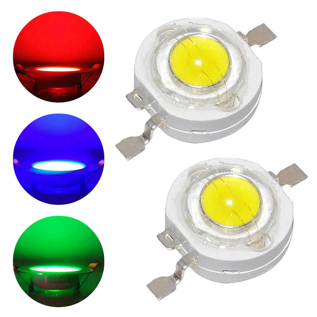 1Pc 1W 3W Spot light LED lamp Real Full Watt High Power Bulb Diodes LEDs Chip For 3W - 18W Downlight