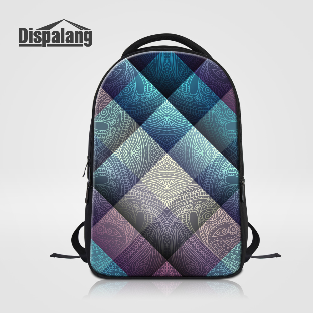 Dispalang Oxford Top Quality School Bags For Teenage Boys Girls Plaid Pattern Women Travel Backpack Notebook Laptop Bag Mochilas