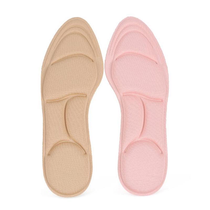 1 Paar Atmungsaktive Hohe Ferse Einlegesohlen Frauen Hohe Ferse Einlegesohlen Weichen Schwamm Massage Schuh Pads Werkzeug Gebogene Stoßdämpfer Kissen Fußpflege-utensil Haut Pflege Werkzeuge