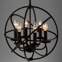 6 Arm Birdcage Chandelier Light Vintage Loft Globe Chandelier Lamp Nordic Retro Free Shipping P GLT816