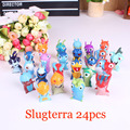 2015 New Slugterra PVC Action Toy Figures 24pcs/set Juguetes Slugterra Puppets Birthday Gift For Boy Free Shipping