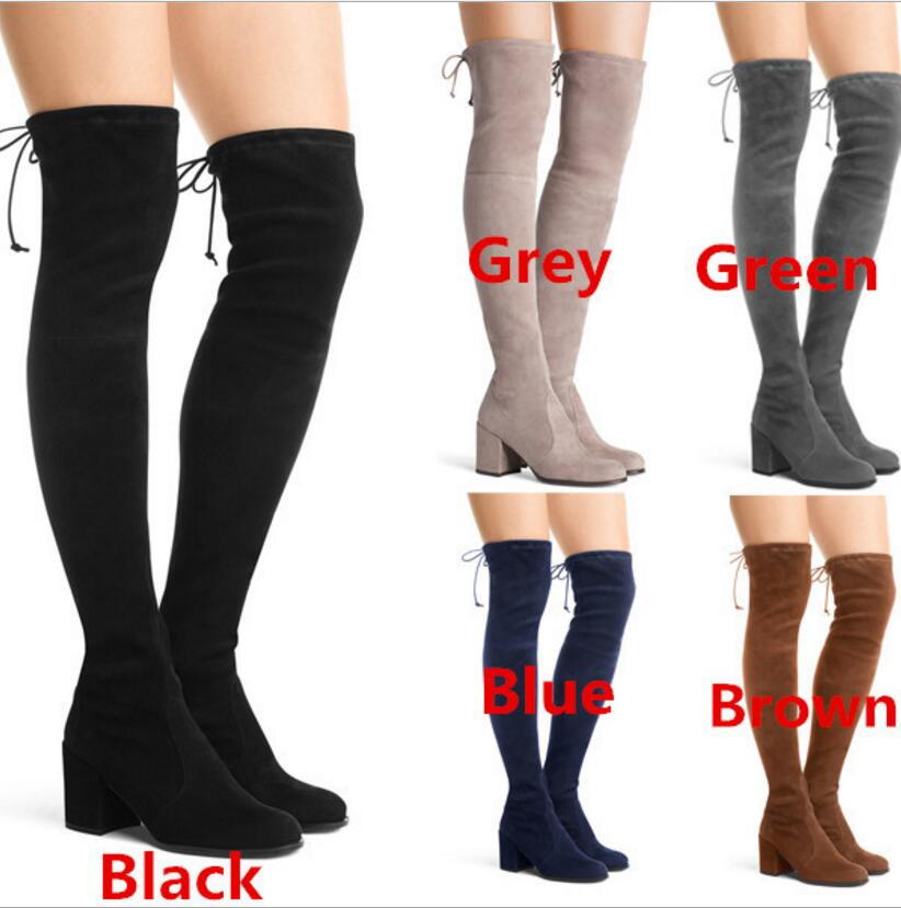 ladies chaussure women winter shoes woman zapatos mujer girls sapato feminino over the knee boots chunky med heel XZ180001 women shoes scarpe donna elastic boots botines mujer sapato feminino round toe chaussure femme schoenen vrouw over knee boots
