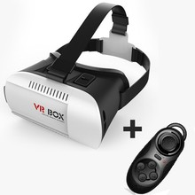 VR Box Virtual Reality 3D Glasses Helmet VR BOX Headset For Smartphone 3.5 inch ~ 6 inch + Remote Control Gamepad