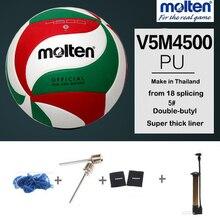 668d0f45ad Competição do Treinamento de Voleibol V5M4500 Molten Oficial Jogo de Bola  Ao Ar Livre Indoor Bolas de voleibol Andebol voleibol .
