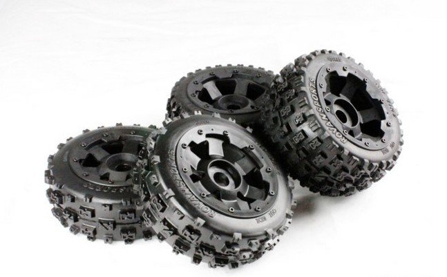 baja 5b new knobby wheel set 5b front knobby wheel set with nylon super star wheel ts h85073 x 2pcs for 1 5 baja 5b wholesale and retail