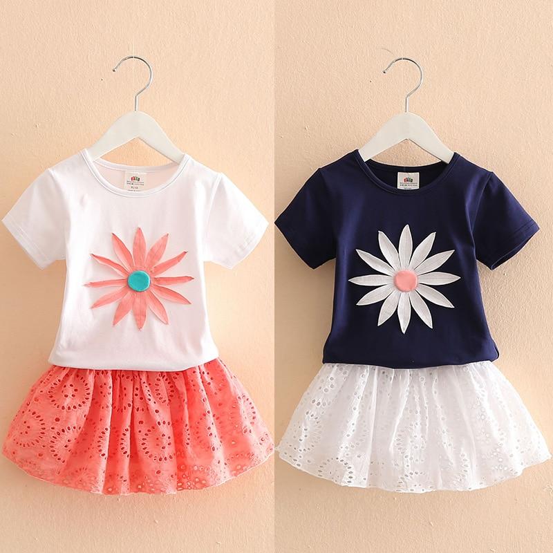 Skirt Fashion Princess Dress Summer Set Age 2-12 Years Girls Top
