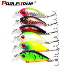 Proleurre 45mm 4.1g Crankbait Fishing Lure Artificial Hard Bass Fishing Wobblers Japan Topwater Minnow Fish Lures Fishing tackle
