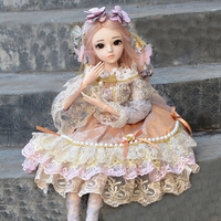 1/3 BJD Doll 18 Ball Jointed Dolls With All Outfits Dress Wigs Shoes Makeup SD Doll Toys for Girl Birthday Gift Collection