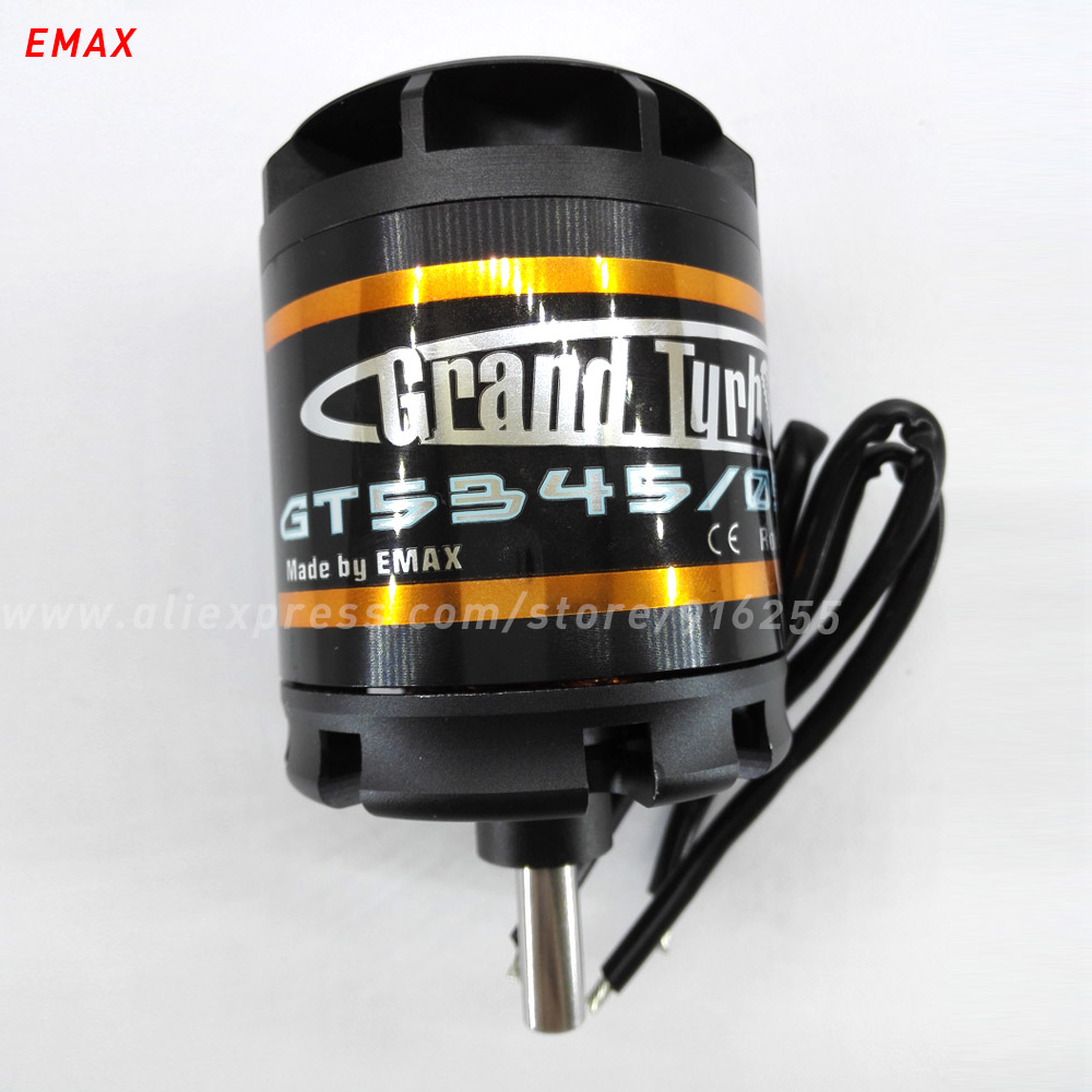 EMAX rc brushless outrunner motor 170kv 190kv 220kv airplane GT series 8mm shaft 63mm for aircraft electric vehicle accessory emax gt 5345 07 outrunner brushless motor for r c helicopter black 12cm