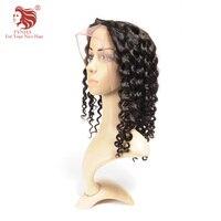 FYNHA бразильский кудрявый локон волос Девы полное кружева парики человеческих волос с ребенком волос парики для женщин натуральный черный Ц