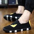 2016 de Corea Del Verano Nuevos Zapatos de Lona de Los Hombres Zapatos Casuales Marea Pequeño Monstruo Alpargatas Mocasines Zapatos Hombre Transpirable Tamaño 7-9.5