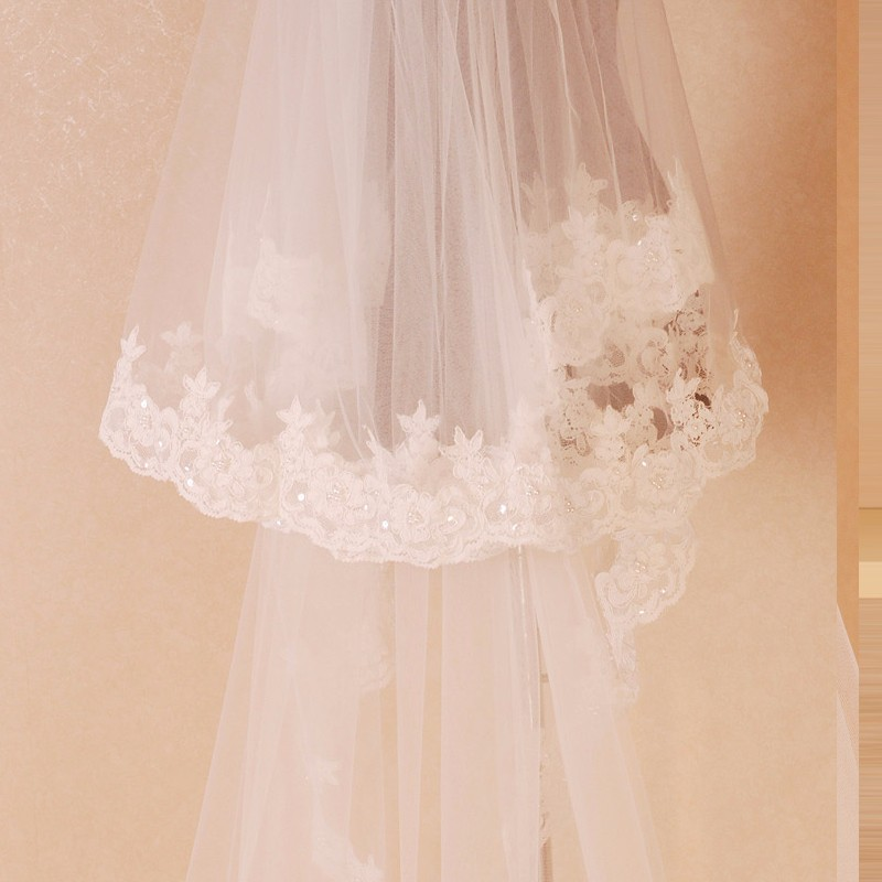 Bridal-Veil-High-Quality-2-Tier-Lace-Wedding-Long-Veils-With-Pearl-Comb-Accessories-De-Mariage (3)